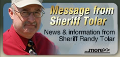 Message from Sheriff Tolar